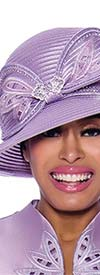 GMI-8052H-Lavender - Womens Hat With Embellished Bow Design