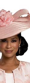 Donna Vinci 11920H Embellished Womens Coolie Style Hat With Flower & Ribbon Design