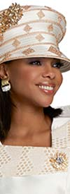 Donna Vinci 5716H Embellished Womens Church Hat With Stone Adornment
