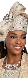 Donna Vinci 5726H Womens Embellished Brimless Church Crown Hat