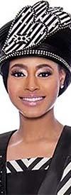 Susanna 3917H - Narrow Brim Womens Embellished Church Hat