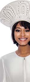 Terramina 7862H-Pearl - Wide Crown Brimless Womens Church Hat
