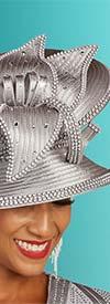 Ben Marc 48302H - Womens Rhinestone Embellished Church Hat