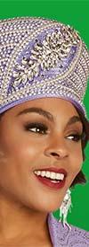 Ben Marc 48304H - Womens Rhinestone Encrusted Church Crown Hat
