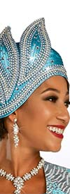 Ben Marc 48317H - Womens Rhinestone Embellished Brimless Cloche Hat