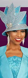 Ben Marc 48333H - Womens Rhinestone Adorned Petal Design Hat