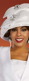 Ben Marc 48348H - Ladies Church Hat With Rhinestones