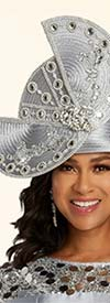 Donna Vinci 11822H Stone Embellished Womens Specialty Hat With Circular Adornment