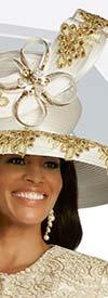 Donna Vinci 11823H Womens Wide Brim Hat With Embellished Applique Design