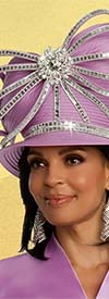 Donna Vinci 11842H Womens Church Hat With Embellished Ribbon Accents