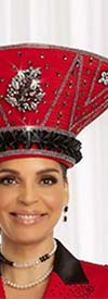 Donna Vinci 11844H Womens Church Hat With Embellished Accents
