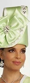 Donna Vinci 11847H Womens Two Tone Design Hat With Swirl And Satin Bow Adornment