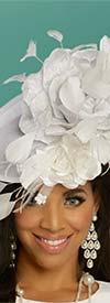 Donna Vinci 11855F Womens Fascinator Hat With Flower Petal Adornment
