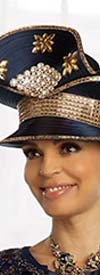 Donna Vinci 11858H Womens Front Brim Hat With Embellished Accents