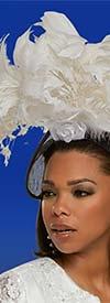 Donna Vinci 11877F Ladies Fascinator Hat With Feather & Flower Petal Design