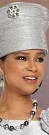 Donna Vinci 11879H Ladies Brimless Embellished Church Crown Hat