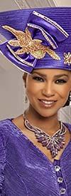 Donna Vinci 11880H Womens Embellished Wide Crown Church Hat
