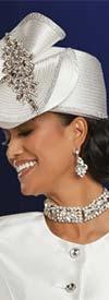 Donna Vinci 11883H Ladies Brimless Embellished Church Hat