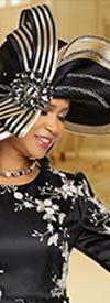 Donna Vinci 11884H Ladies Wide Brim Embellished Church Hat