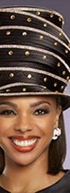 Donna Vinci 11887H Womens Narrow Brim Embellished Church Crown Hat