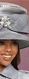 Donna Vinci 11892H Womens Church Hat With High Crown And Bow Adornment
