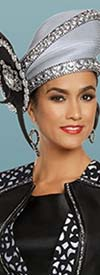Donna Vinci 11897H Womens Brimless Church Hat With Side Adornment