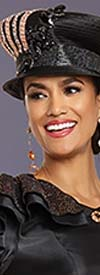 Donna Vinci 11898H Womens Narrow Brim Hat With Embellished Accents