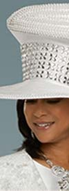 Donna Vinci 11906H Womens Church Hat With Embellished Rhinestone Accents