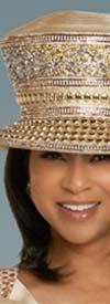 Donna Vinci 11908H Womens Embellished Church Crown Hat