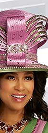 Donna Vinci 13284H Womens Two-Tone Church Crown Hat Embellished With Stones