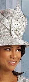 Donna Vinci 5668H Womens Church Hat With Embellished Rhinestone Design