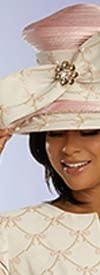 Donna Vinci 5672H Womens Church Crown Hat Embellished With Pearls And Stones