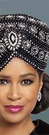 Donna Vinci 5704H Brimess Ladies Hat With Rhinestones