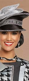 Donna Vinci 5706H Ladies Hat With Stone Embellishments And Bow Style Adornment