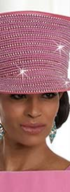 Donna Vinci 11637H Orchid Church Hat Embellished With Rhinestones