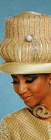 Donna Vinci 11784H Champagne Church Hat