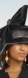 Donna Vinci 11787H Black Church Hat