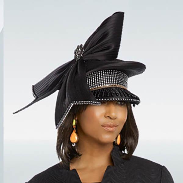 Donna Vinci 11787H Black Church Hat