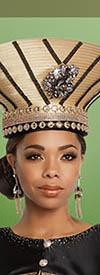 Donna Vinci 11802H Black/Gold Church Hat