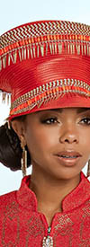 Donna Vinci 13265H Red Orange Church Hat
