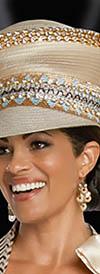 Donna Vinci 5633H Champagne Church Hat