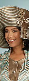 Donna Vinci 5640H Mint Coffee Church Hat