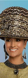 Donna Vinci 5646H Black/Gold Church Hat