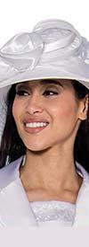 GMI-6443H - Solid White Womens Church Hat