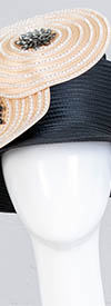 Tally Taylor 4623H Black Champagne Hat With Rhinestones