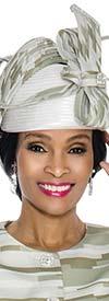 Terramina 7601H Womens Solid & Print Church Hat Embellished With Rhinestones