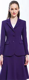 Clearance JSong 158S-Purple - Jacket & Skirt Suit For Women