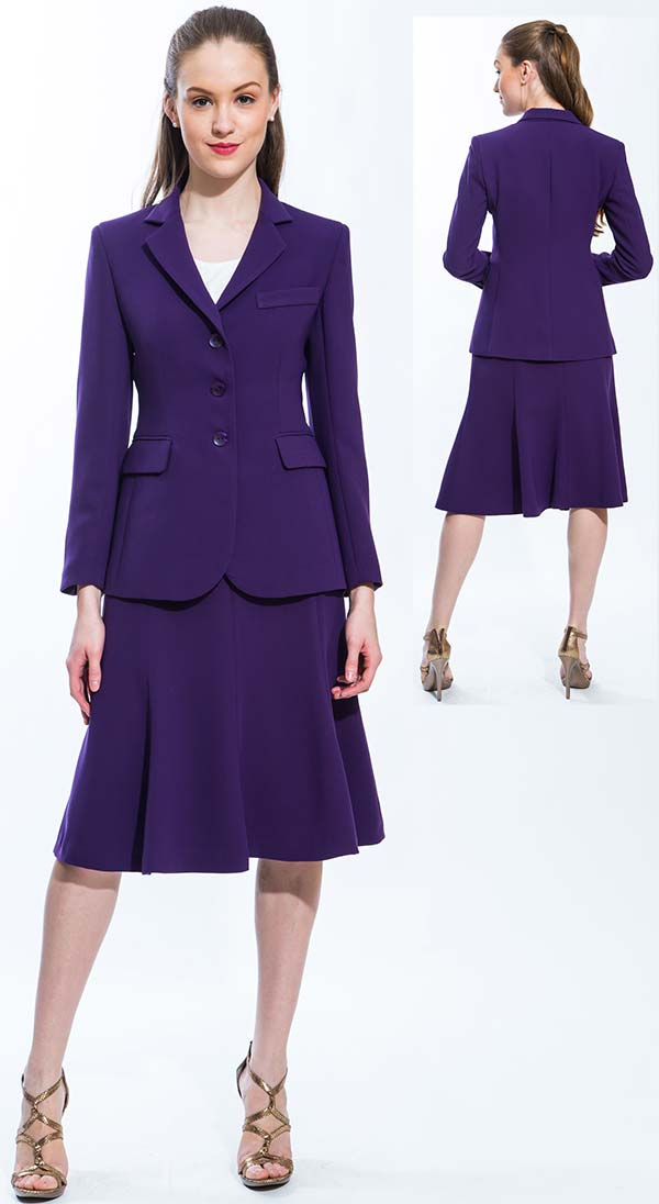 Womens Suit By Jsong 158s Purple Expressurway