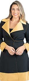JerryT-SR7021 - Two Tone Wrap Style Womens Jacket