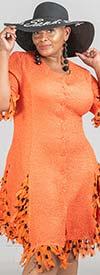 JerryT-SR118 - Womens Fringe Trim Crinkle Fabric Dress